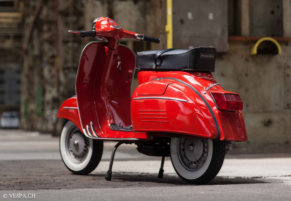 Vespa GTR (Gran Turismo) 125, Rosso Corallo, Jg. 1972, im O-Lack, original Zustand - VE8PA.CH-24