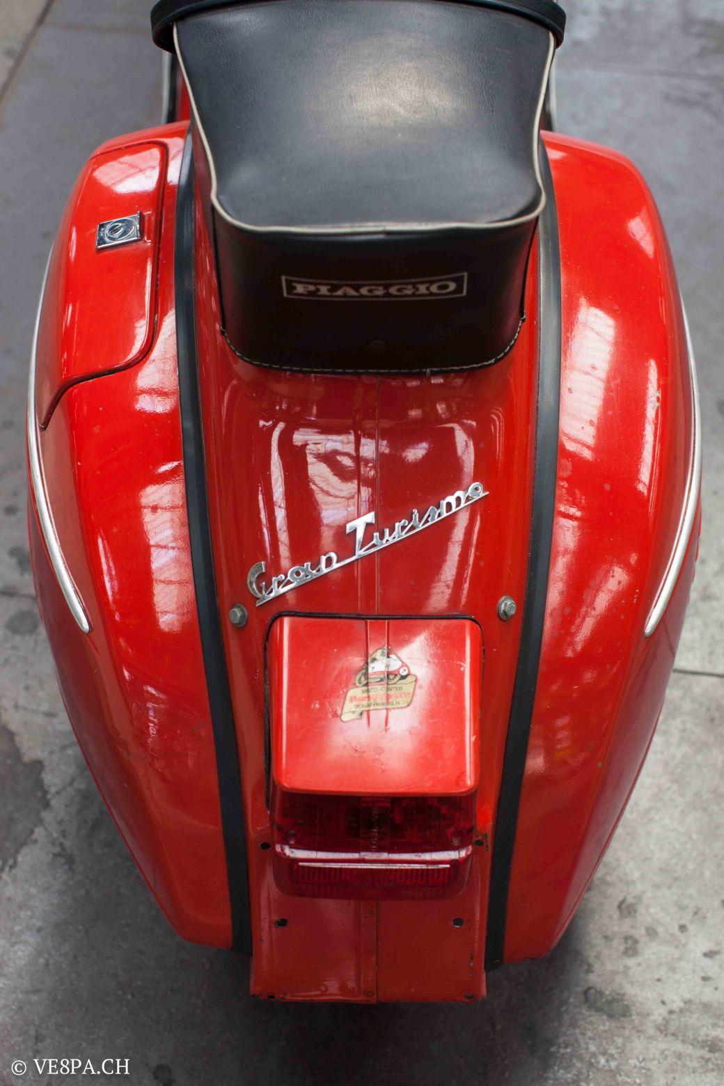 Vespa GTR (Gran Turismo) 125, Rosso Corallo, Jg. 1972, im O-Lack, original Zustand - VE8PA.CH-43