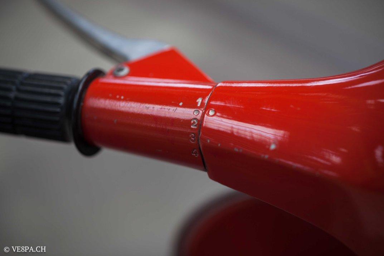 Vespa GTR (Gran Turismo) 125, Rosso Corallo, Jg. 1972, im O-Lack, original Zustand - VE8PA.CH-57
