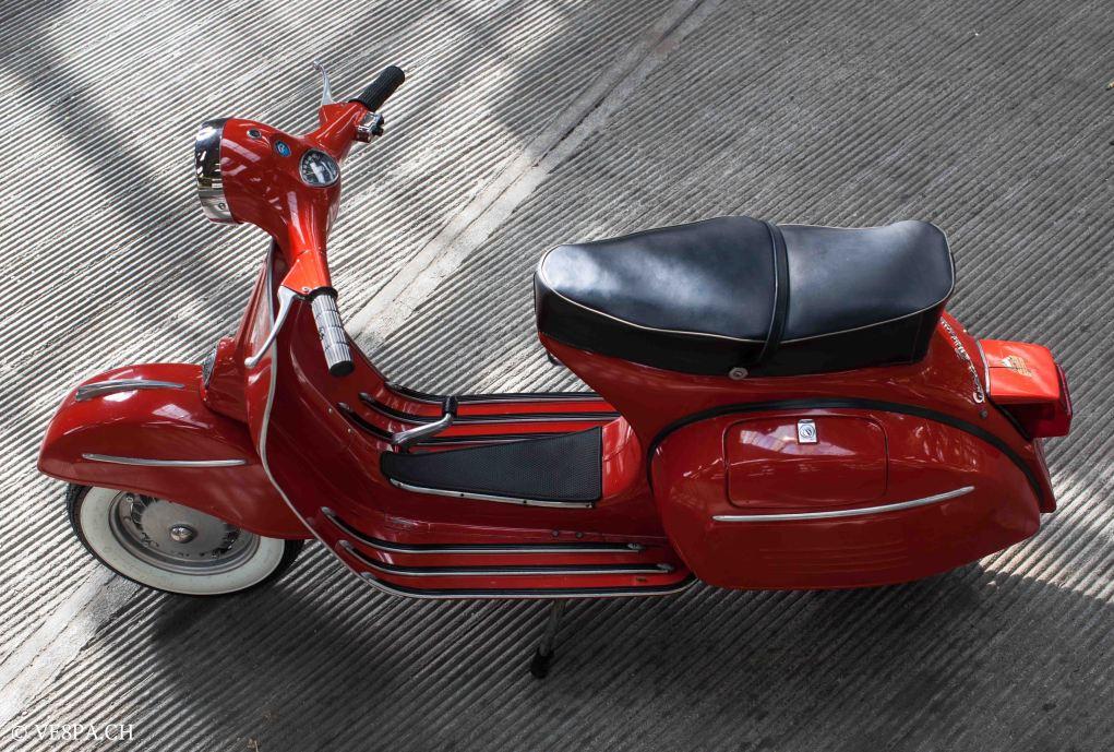 Vespa GTR (Gran Turismo) 125, Rosso Corallo, Jg. 1972, im O-Lack, original Zustand - VE8PA.CH-7-2