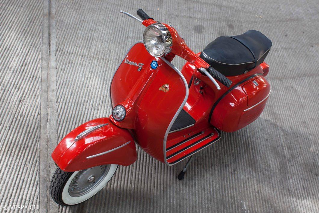 Vespa GTR (Gran Turismo) 125, Rosso Corallo, Jg. 1972, im O-Lack, original Zustand - VE8PA.CH-8-2