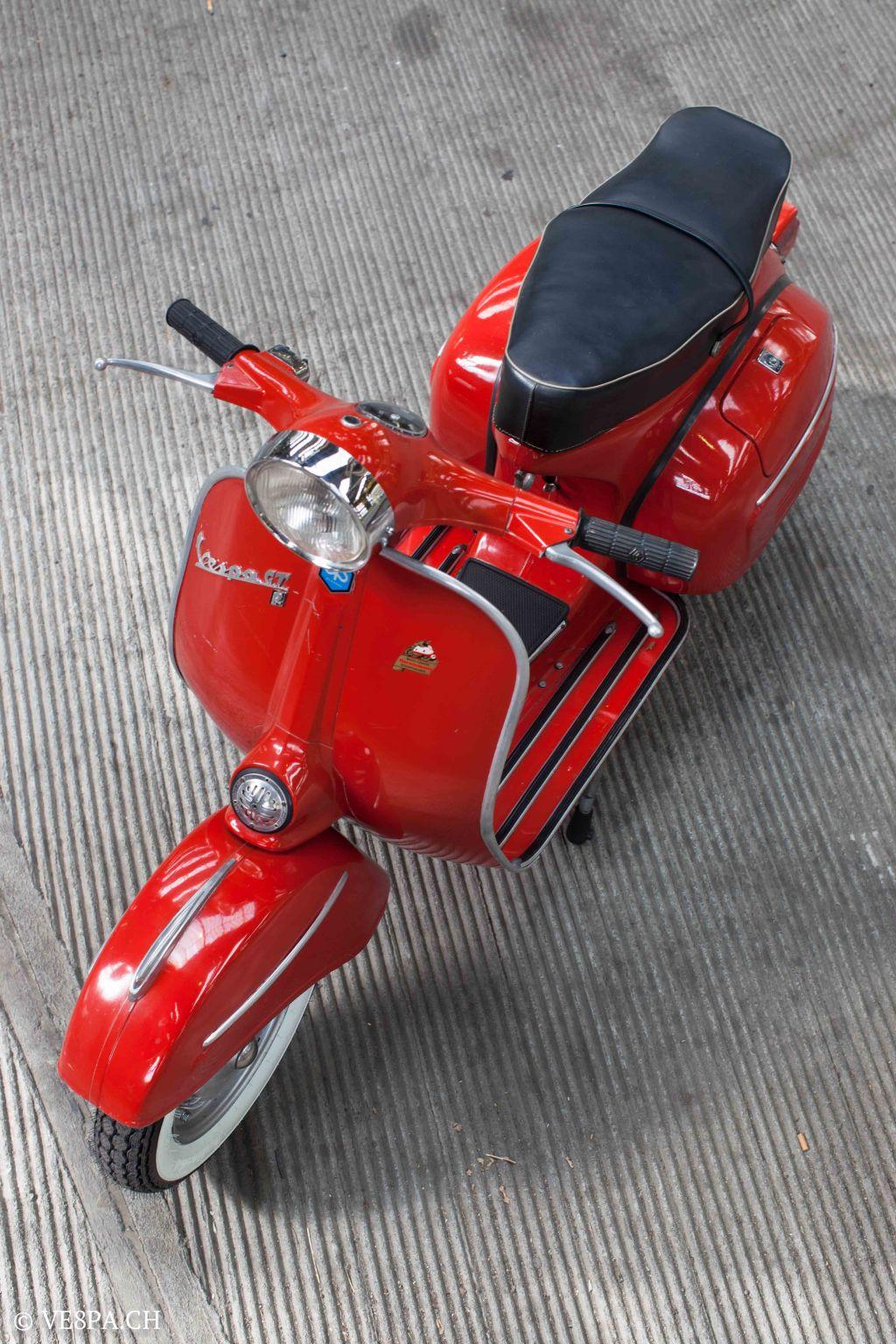 Vespa GTR (Gran Turismo) 125, Rosso Corallo, Jg. 1972, im O-Lack, original Zustand - VE8PA.CH-9-2