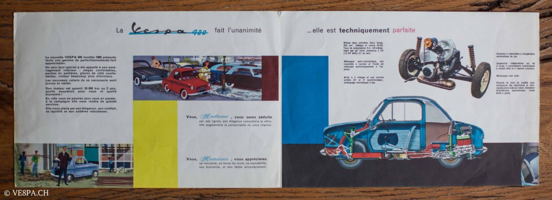 Vespa ACMA 400, 1958, O-Lack, Erstserie, www.VE8PA.CH-100