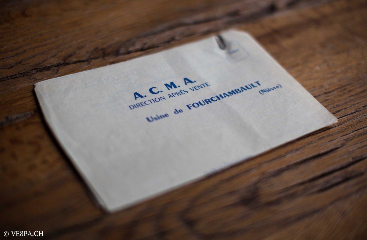 Vespa ACMA 400, 1958, O-Lack, Erstserie, www.VE8PA.CH-70