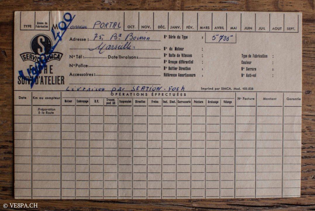 Vespa ACMA 400, 1958, O-Lack, Erstserie, www.VE8PA.CH-78