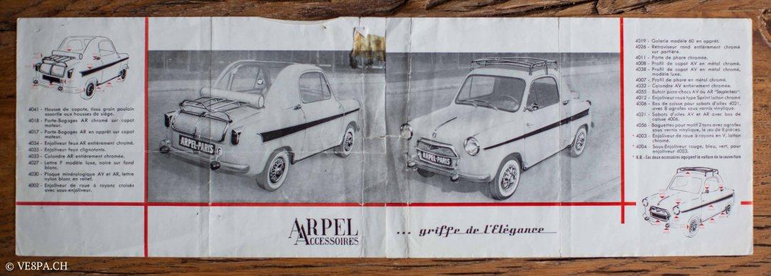 Vespa ACMA 400, 1958, O-Lack, Erstserie, www.VE8PA.CH-80