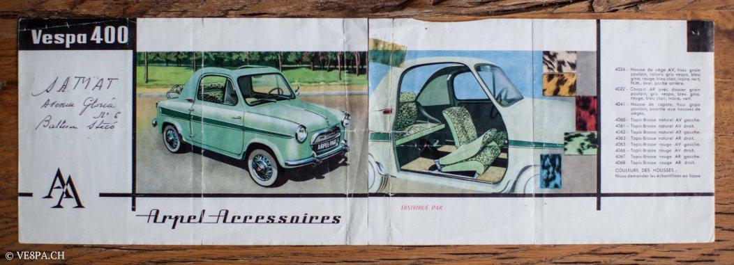 Vespa ACMA 400, 1958, O-Lack, Erstserie, www.VE8PA.CH-81