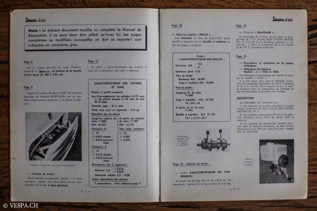 Vespa ACMA 400, 1958, O-Lack, Erstserie, www.VE8PA.CH-83