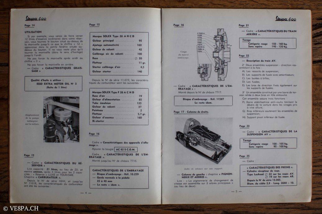Vespa ACMA 400, 1958, O-Lack, Erstserie, www.VE8PA.CH-84