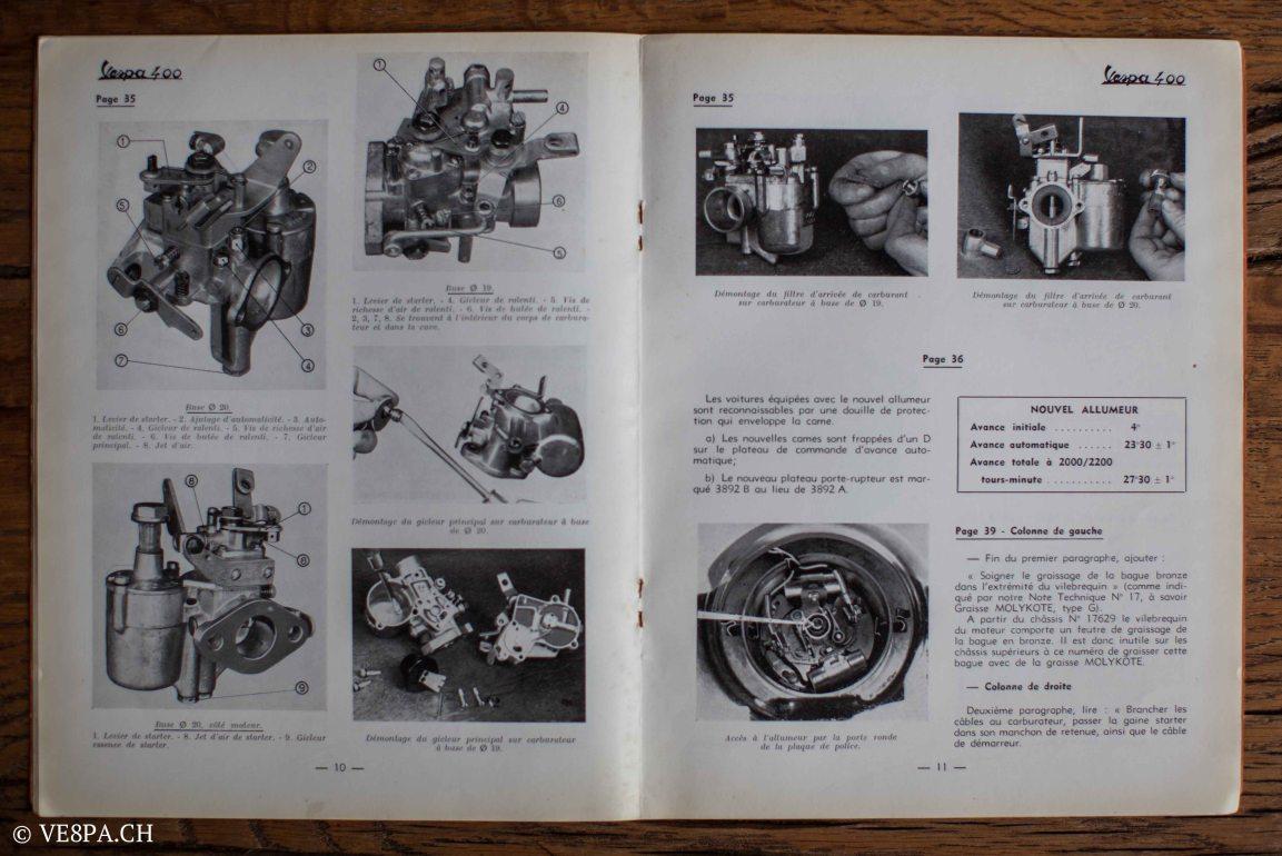 Vespa ACMA 400, 1958, O-Lack, Erstserie, www.VE8PA.CH-87