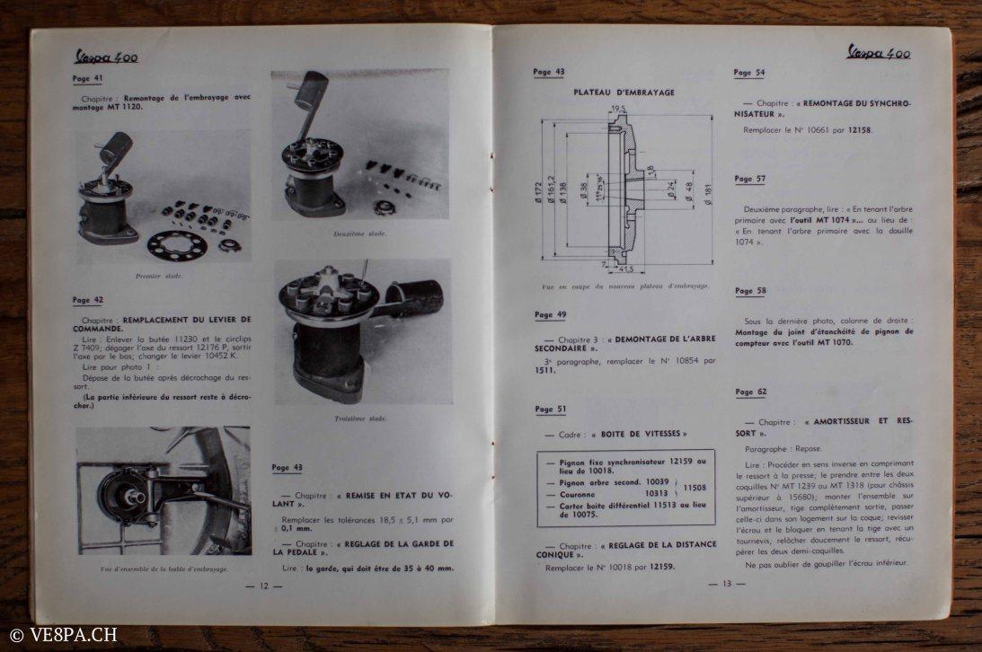 Vespa ACMA 400, 1958, O-Lack, Erstserie, www.VE8PA.CH-88