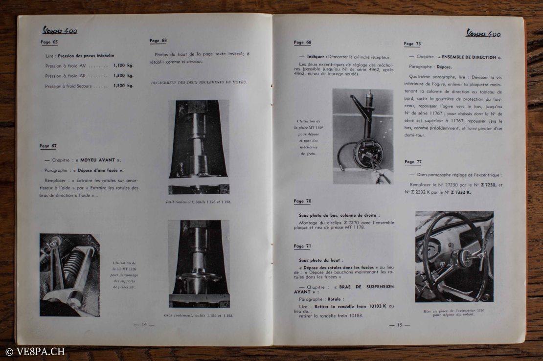 Vespa ACMA 400, 1958, O-Lack, Erstserie, www.VE8PA.CH-89