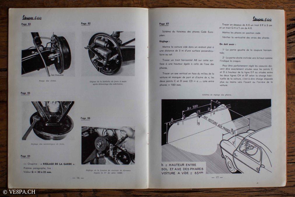 Vespa ACMA 400, 1958, O-Lack, Erstserie, www.VE8PA.CH-90