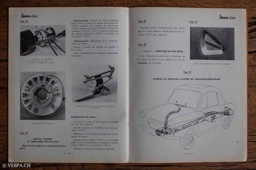Vespa ACMA 400, 1958, O-Lack, Erstserie, www.VE8PA.CH-91