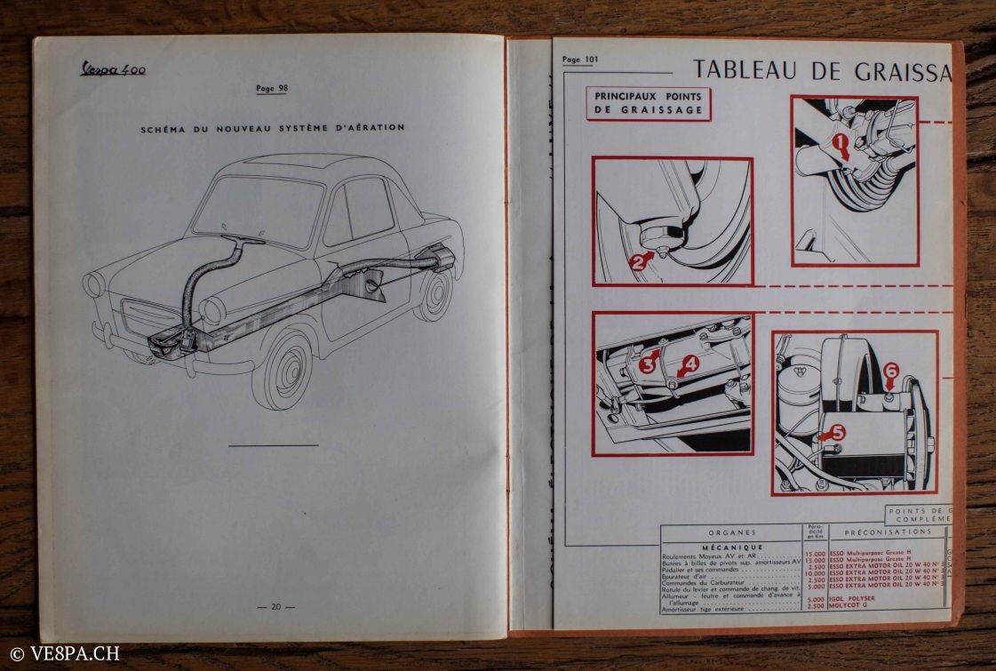 Vespa ACMA 400, 1958, O-Lack, Erstserie, www.VE8PA.CH-92