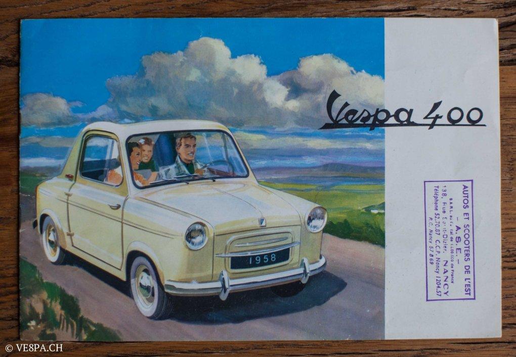 Vespa ACMA 400, 1958, O-Lack, Erstserie, www.VE8PA.CH-95