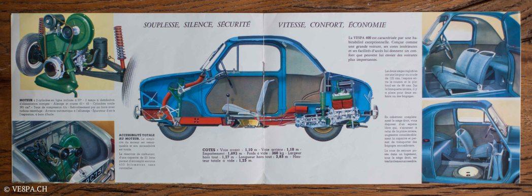 Vespa ACMA 400, 1958, O-Lack, Erstserie, www.VE8PA.CH-96