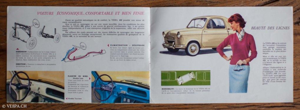 Vespa ACMA 400, 1958, O-Lack, Erstserie, www.VE8PA.CH-97