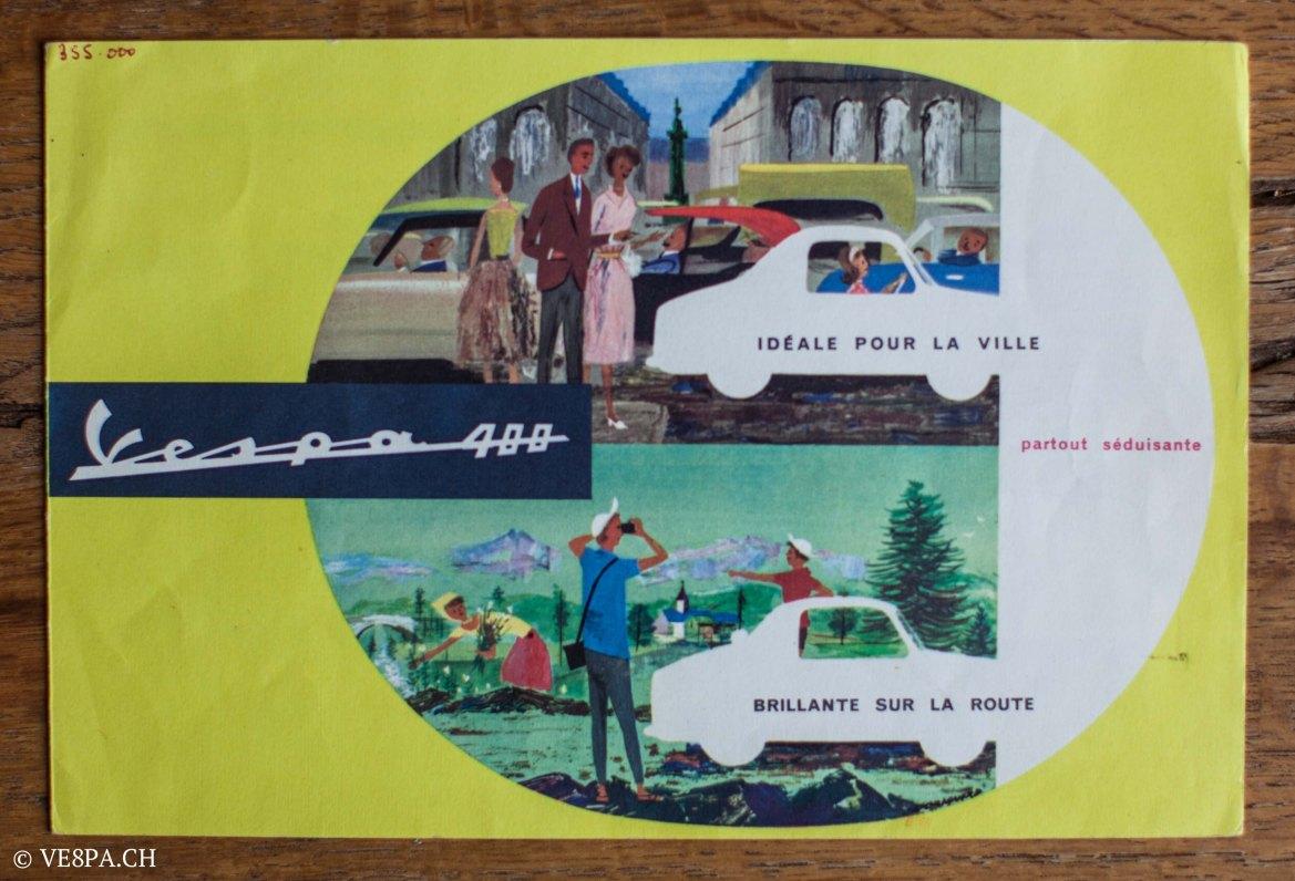 Vespa ACMA 400, 1958, O-Lack, Erstserie, www.VE8PA.CH-99