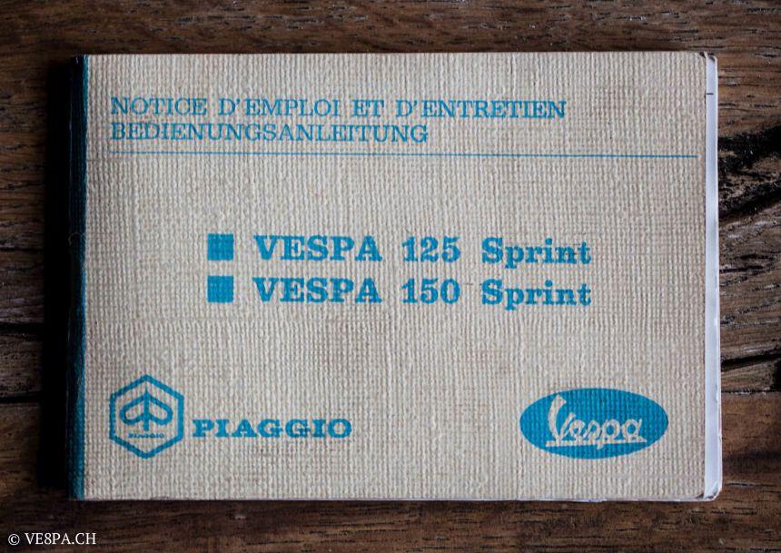 Vespa GTR 125, wie Vespa TS, Vespa Rally 180 200, Vespa SS 180, O-Lack, Conservata, Original - VE8PA.CH-12