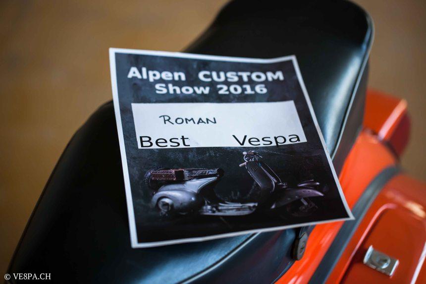 Vespa GTR 125, wie Vespa TS, Vespa Rally 180 200, Vespa SS 180, O-Lack, Conservata, Original - VE8PA.CH-90