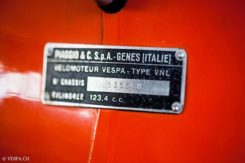 Vespa GTR 125, wie Vespa TS, Vespa Rally 180 200, Vespa SS 180, O-Lack, Conservata, Original - VE8PA.CH-93
