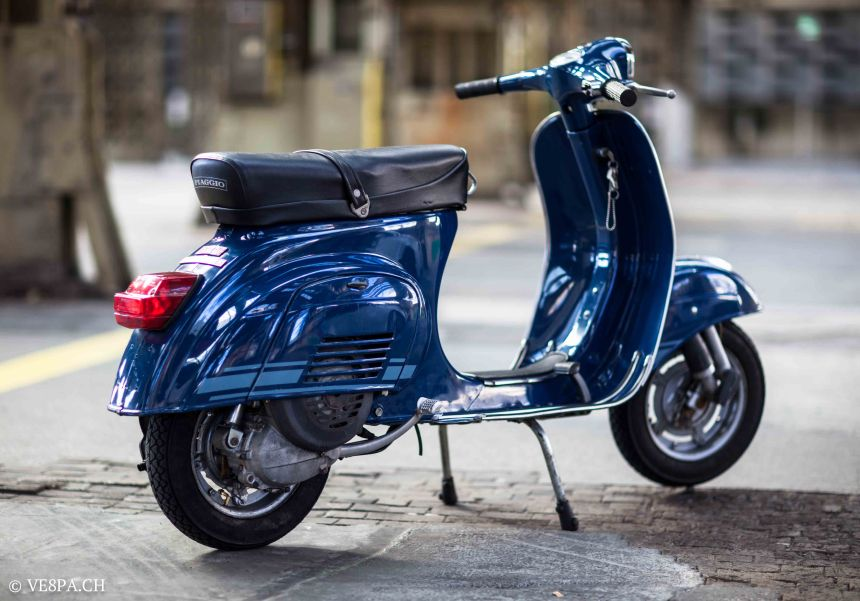blue banana vespa primavera et3 1981 im o lack mit nur 1188 km ve8pa ch. Black Bedroom Furniture Sets. Home Design Ideas