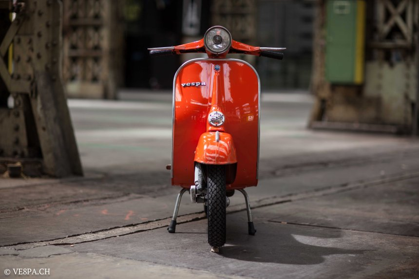Vespa Primavera 1975, Orange, im O-Lack, Originallack, Vespa Smallframe wie Vespa 50SS, ET3, VE8PA.CH-18