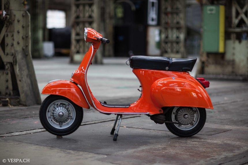Vespa Primavera 1975, Orange, im O-Lack, Originallack, Vespa Smallframe wie Vespa 50SS, ET3, VE8PA.CH-24