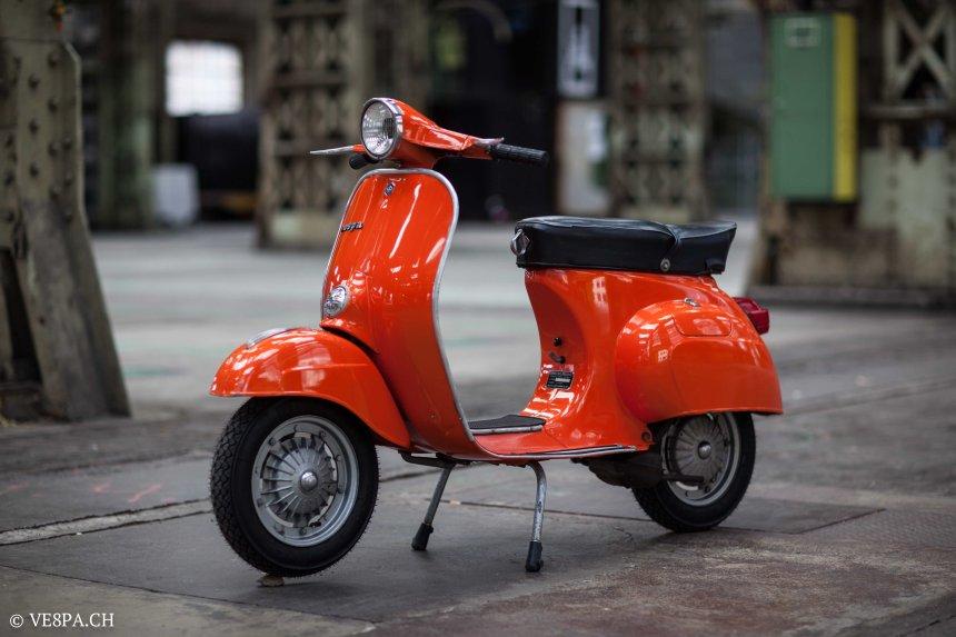 Vespa Primavera 1975, Orange, im O-Lack, Originallack, Vespa Smallframe wie Vespa 50SS, ET3, VE8PA.CH-25