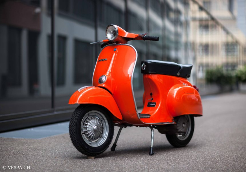 Vespa Primavera 1975, Orange, im O-Lack, Originallack, Vespa Smallframe wie Vespa 50SS, ET3, VE8PA.CH-3