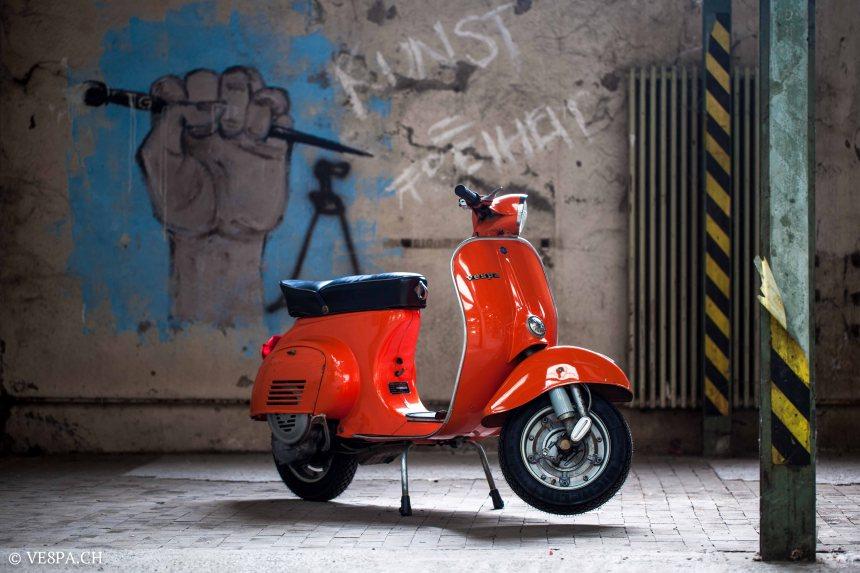 Vespa Primavera 1975, Orange, im O-Lack, Originallack, Vespa Smallframe wie Vespa 50SS, ET3, VE8PA.CH-32