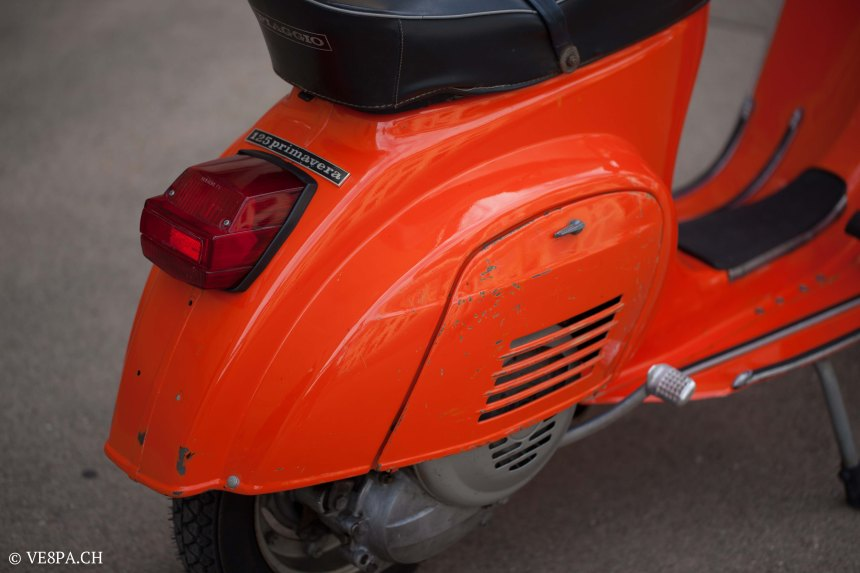 Vespa Primavera 1975, Orange, im O-Lack, Originallack, Vespa Smallframe wie Vespa 50SS, ET3, VE8PA.CH-34