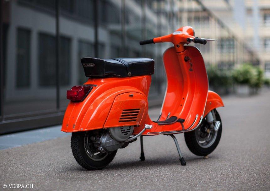 Vespa Primavera 1975, Orange, im O-Lack, Originallack, Vespa Smallframe wie Vespa 50SS, ET3, VE8PA.CH-4
