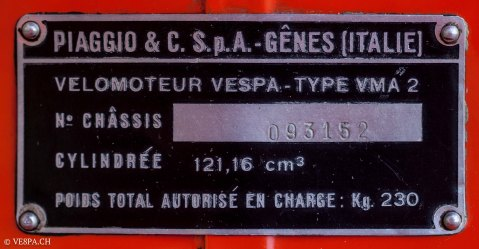 Vespa Primavera 1975, Orange, im O-Lack, Originallack, Vespa Smallframe wie Vespa 50SS, ET3, VE8PA.CH-49