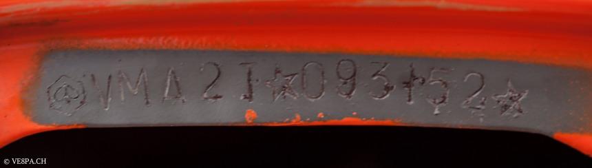 Vespa Primavera 1975, Orange, im O-Lack, Originallack, Vespa Smallframe wie Vespa 50SS, ET3, VE8PA.CH-62