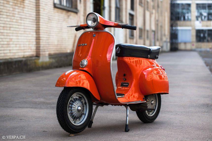 Vespa Primavera 1975, Orange, im O-Lack, Originallack, Vespa Smallframe wie Vespa 50SS, ET3, VE8PA.CH-70