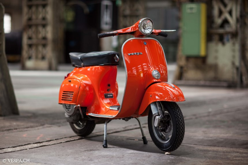 Vespa Primavera 1975, Orange, im O-Lack, Originallack, Vespa Smallframe wie Vespa 50SS, ET3, VE8PA.CH-74