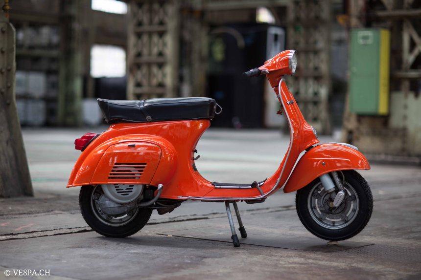 Vespa Primavera 1975, Orange, im O-Lack, Originallack, Vespa Smallframe wie Vespa 50SS, ET3, VE8PA.CH-75