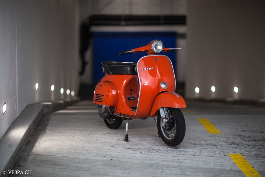Vespa Primavera 1975, Orange, im O-Lack, Originallack, Vespa Smallframe wie Vespa 50SS, ET3, VE8PA.CH-8